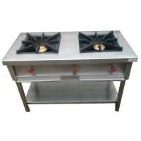 Double Burner Range Stainless Steel